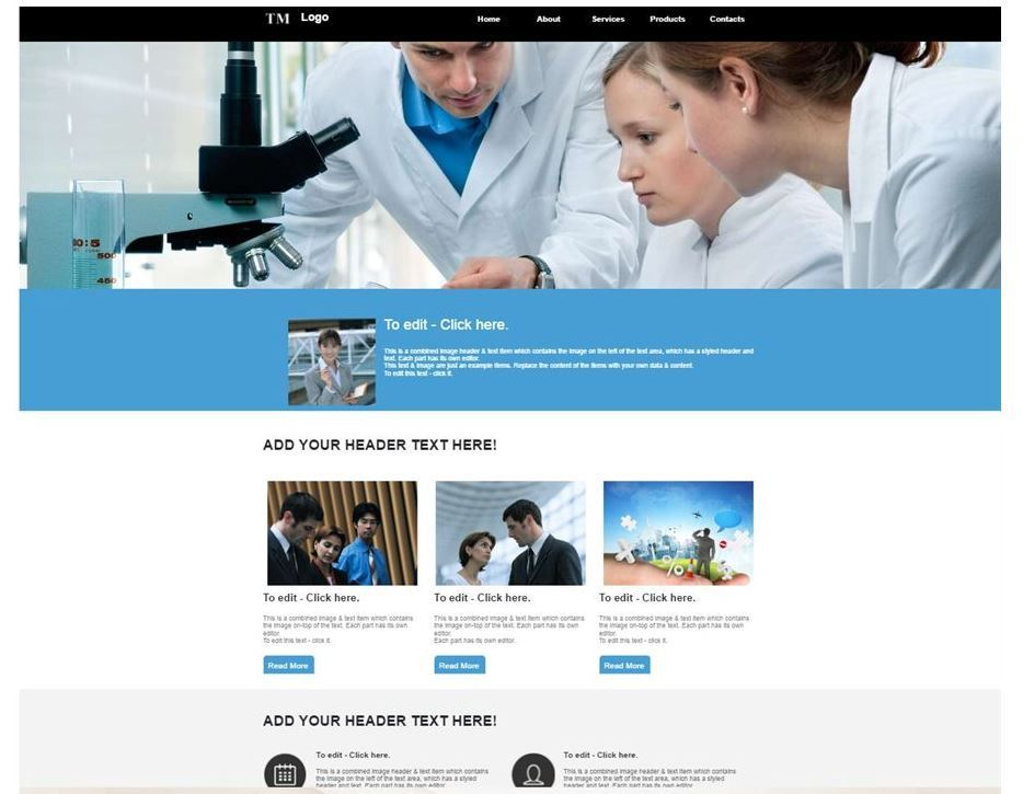 Laboratory business template