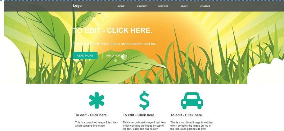Spring website image theme