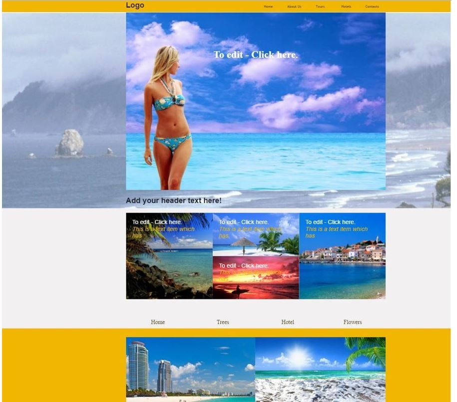 Beach website theme
