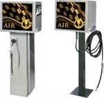 Air machines for petrol stations
